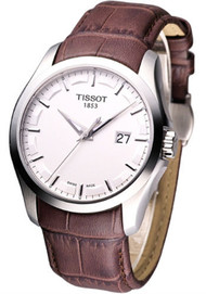 Tissot T0354101603100 T-Trend Couturier Silver Dial Men Leather Watch