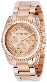 Michael Kors Blair Rose Gold-Tone Chronograph Women's Watch MK5263
