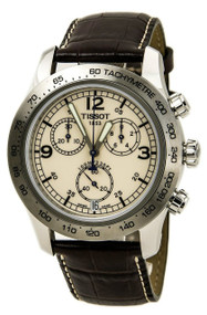 Tissot T-Sport V8 Chronograph Brown Leather Men's Watch T36131672