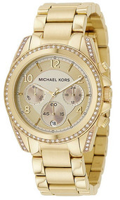 Michael Kors Glitz Chronograph Gold Toned Women's Watch MK5166