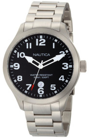 Nautica N12517G BFD 101 Date Men's Black Dial Watch