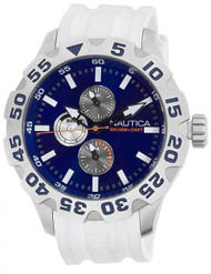 Nautica BDF 100 White Resin Multifunction Men's Watch N15567G