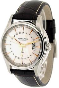 Hamilton H32585557 Jazzmaster Traveler GMT Men's Leather Watch