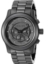 Michael Kors Black Out Runway Chronograph Black Dial Mens Watch MK8157