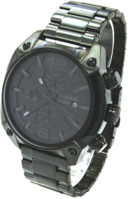 Diesel Advanced Blackout Chronograph Black Dial Date Mens Watch DZ4223