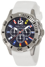 Nautica BFD 100 N18638G Men's White Resin Watch