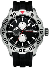 Nautica BDF 100 N15564G Men's Multifunction Black Resin Watch