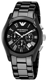 Emporio Armani AR1400 Ceramica Men's Black Chronograph Watch