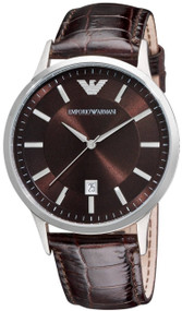 Emporio Armani AR2413 Classic Brown Leather Men's Watch
