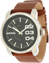 Diesel DZ1513 Oversized Analog Quartz Black Dial Leather Men's Watch