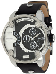 Diesel SBA XL Chronograph Two-Tone Dial Date Leather Mens Watch DZ7256