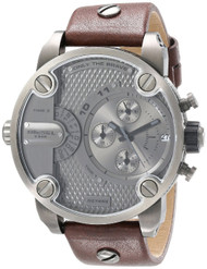 Diesel SBA Chronograph Only The Brave Brown Leather Men's Watch DZ7258