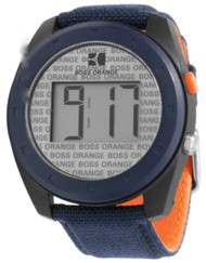 Hugo Boss Orange Digital Blue Nylon Band Men's Watch 1512615