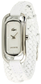 Lacoste Sienna White Braided Leather Strap Women's Watch 2000739