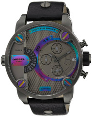 Diesel SBA Little Daddy Rainbow Black Leather  Men's Watch DZ7270