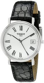 Tissot T-Classic Desire White Dial Black Leather Men's Watch T52142113