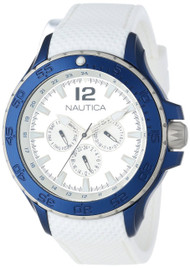 Nautica Classic NST N18676G Men's White PU Multifunction Watch