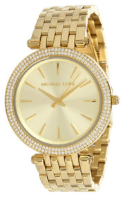 Michael Kors Darci Glitz Gold Dial Paved Bezel Women's Watch MK3191