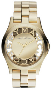 Marc Jacobs MBM3206 Henry Skeleton Gold-tone Steel Women's Watch