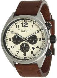 Fossil Flight Chronograph Brown Leather Men's Watch CH2835
