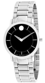 Movado TC Black Dial SS Signature Dot Women's Watch 0606690