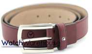 Montblanc 109750 Casual Line Men's Saffiano Burgundy Leather Belt