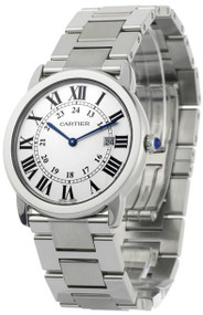 Cartier W6701005 Ronde Solo Large Silver Dial 36MM Women's Steel Watch
