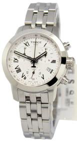 Tissot PRC 200 Chronograph Silver Dial Women's Watch T0552171103300