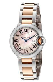 Cartier Ballon Bleu 28mm Pink Pearl 18KR Gold SS Women Watch W6920034