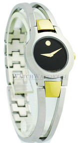 Movado 0604760 Amorosa Black Museum Dial Two-tone Steel Dress Watch