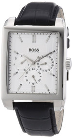 Hugo Boss Black Multi-function Black Leather Strap Men's Watch 1512890