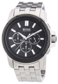 Hugo Boss Black Chronograph Black Dial Steel Men's Watch 1512928