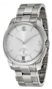 Movado LX 42mm Silver Dial Stainless Steel Men's Watch 0606627