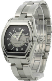 Cartier W62001V3 Roadster Gray Dial Automatic Magnifier Men's SS Watch
