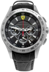 Ferrari Scuderia 830039 Chronograph 44mm Men's Black Leather Watch
