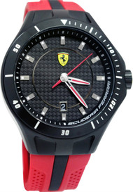 Ferrari Scuderia 830080 Race Day 44mm Men's Red Rubber Watch