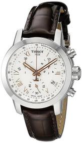 Tissot PRC 200 Chronograph Silver Dial Women's Watch T0552171603302
