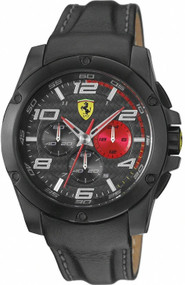 Ferrari Scuderia 830030 Paddock Chronograph Black 46mm Men's Watch