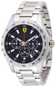 Ferrari Scuderia 830048 Chronograph Black Dial Men's Steel Watch