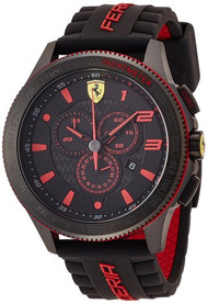 Ferrari Scuderia 830138 Chronograph 48MM Men's Black Rubber Watch