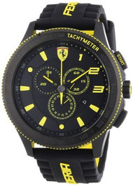 Ferrari Scuderia 830139 Chronograph 48MM Men's Black Rubber Watch