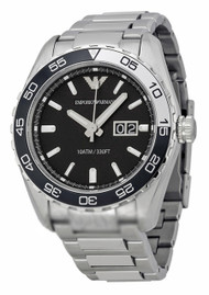 Stylish Bracelet, Black Dial and Black and Stainless Steel Topring