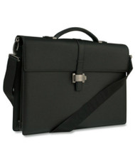 Montblanc 4810 Westside Double Gusset Leather w/ Strap Briefcase 7579