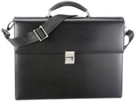 Montblanc Meisterstück Double Gusset Black Leather Briefcase 104607