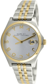 Marc by Marc Jacobs MBM3325 Slim Silver Dial Women SS Two Toned Watch