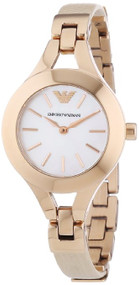 Emporio Armani AR7354 Donna White MOP Dial Women's Nude Leather Watch