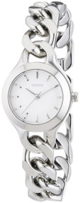 DKNY Chambers Round Silver-Toned Stainless Steel Women's Watch NY2212