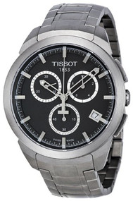 Tissot Chronograph Black Dial Titanium Men's Watch T0694174406100