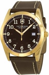 Victorinox 241645 Infantry Brown Dial Leather Quartz Date Men's Watch