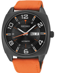 Seiko SNKN39 Recraft Series Automatic Black Dial Day Date Men's Watch
